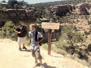 Chris and Zach on Bright Angel Trail