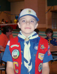 Zach makes the Cub Scout rank of Bear.